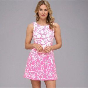 Lilly Pulitzer Bella Pink White Floral Dress XS